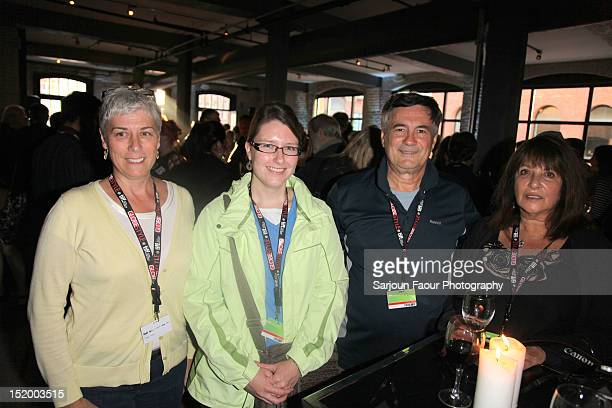 Susan Neale Allison Hayes Julian D'Angelo and Mariclaire D'Angela of the Ancaster Film Fest attend Film Circuit Cocktail during the 2012 Toronto...