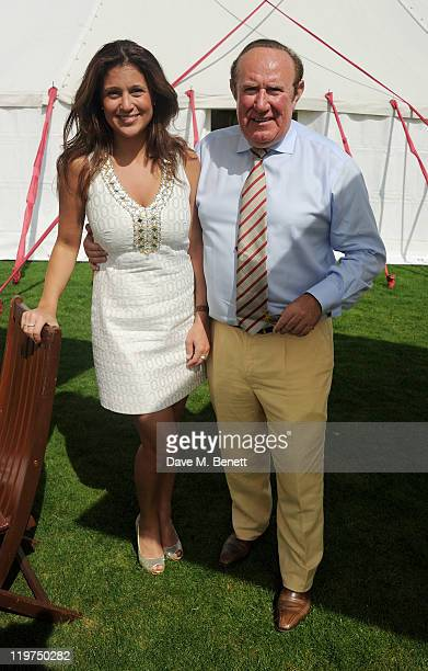Susan Nilsson and Andrew Neil attend Cartier International Polo Day 2011 celebrating 100 years of the Coronation Cup at Guards Polo Club on July 24...