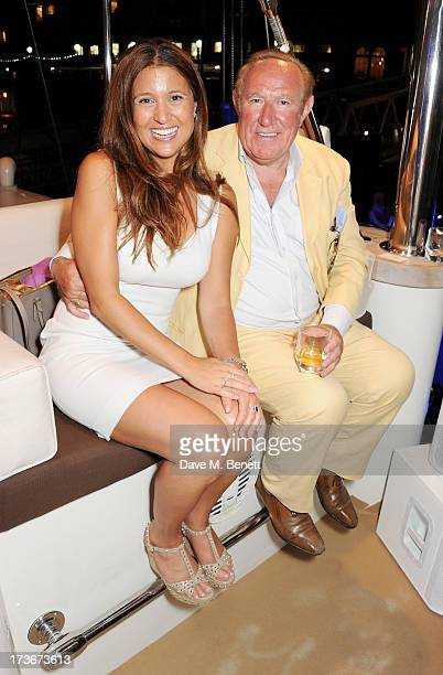 Susan Nilsson and Andrew Neil attend the Johnnie Walker Blue Label drinks reception aboard the John Walker Sons Voyager on July 16 2013 in London...