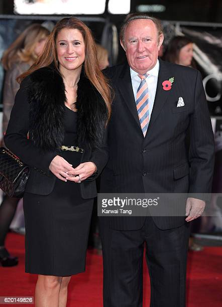 Susan Nilsson and Andrew Neil attend the world premiere of 'The Crown' at Odeon Leicester Square on November 1 2016 in London England