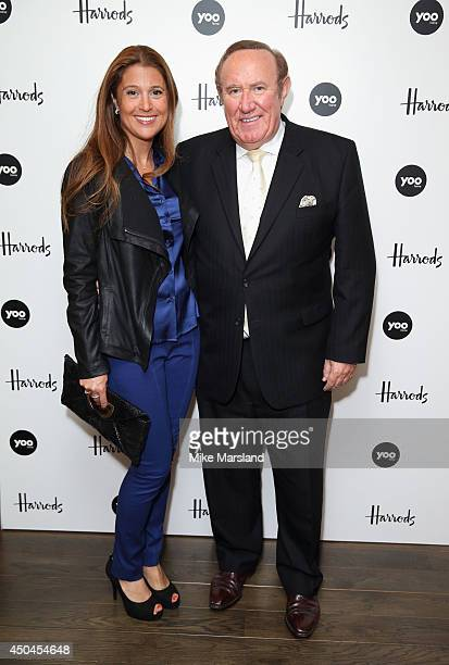 Susan Nilsson and Andrew Neil attend the worldwide exclusive launch of YOO Home at Harrods on June 11 2014 in London England