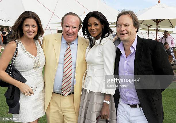 Susan Nilsson Andrew Neil Phoebe Vela and John Hitchcox attend Cartier International Polo Day 2011 celebrating 100 years of the Coronation Cup at...
