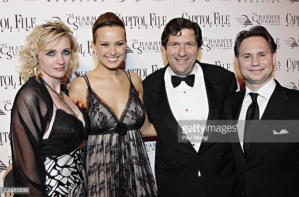 Susan Nixon Publisher of Capitol File Magazine Petra Nemcova Charlie Merinoff and Jason Binn Jason Binn CEO Niche Media during the Capitol File...