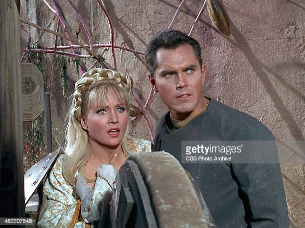 Susan Oliver as Vina and Jeffrey Hunter as Captain Christopher Pike in the STAR TREK The Original Series episode The Cage This is the pilot episode...