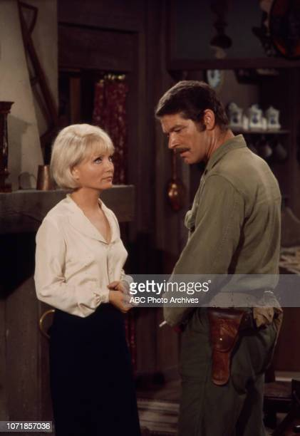 Susan Oliver Stephen Boyd appearing on the Walt Disney Television via Getty Images tv movie 'Carter's Army' January 27 1970