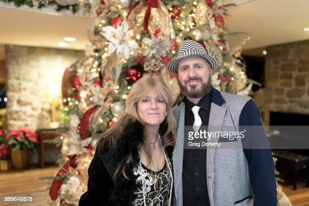 Susan Olsen and Frank Sheftel attend The Thalians Hollywood for Mental Health Holiday Party 2017 at the Bel Air Country Club on December 09 2017 in...