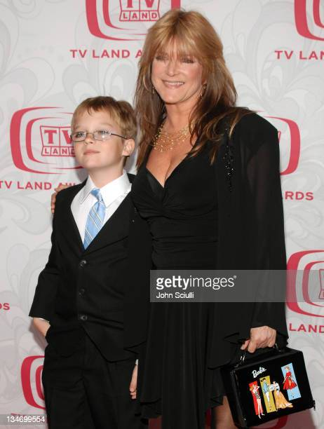 Susan Olsen and guest during 5th Annual TV Land Awards Arrivals at Barker Hanger in Santa Monica CA United States