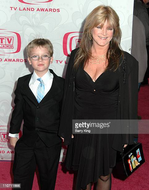 Susan Olsen and son Michael during 5th Annual TV Land Awards Arrivals at Barker Hanger in Santa Monica CA United States