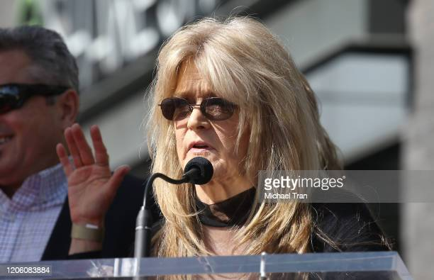 Susan Olsen attends the ceremony honoring Sid and Marty Krofft with a Star on The Hollywood Walk of Fame held on February 13 2020 in Hollywood...