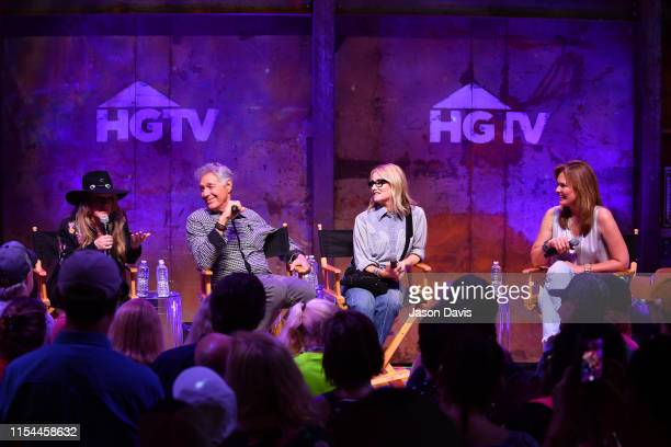 Susan Olsen Barry Williams and Maureen McCormick from the Brady Bunch and GAC's Suzanne Alexander speak onstage in the HGTV Lodge at CMA Music Fest...