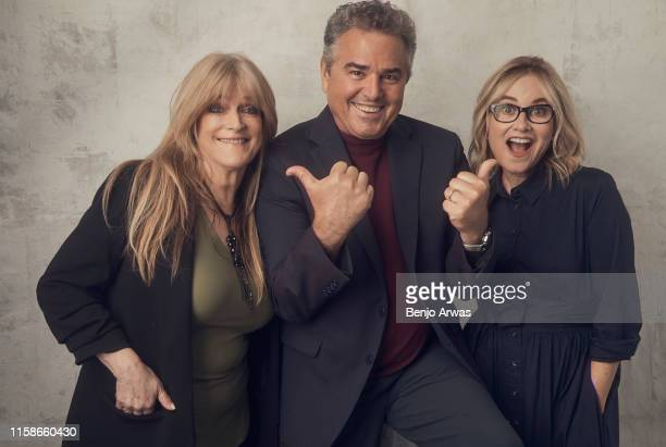 Susan Olsen Christopher Knight and Maureen McCormick of Discovery's 'Brady Bunch' pose for a portrait during the 2019 Summer TCA Portrait Studio at...