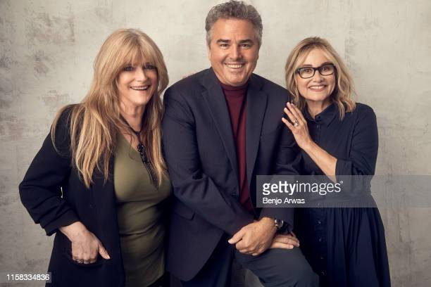 Susan Olsen Christopher Knight and Maureen McCormick of HGTV's 'A Very Brady Renovation' pose for a portrait during the 2019 Summer TCA Portrait...