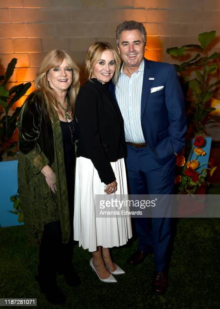 Susan Olsen Maureen McCormick and Chris Knight attend the 'Turn Up Fight Hunger' event with Discovery Inc at The Brady House on November 12 2019 in...