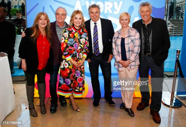 Susan Olsen, Mike Lookinland, Maureen McCormick, Christopher Knight, Eve Plumb, and Barry Williams attend Discovery Inc. 2019 NYC Upfront at Alice...