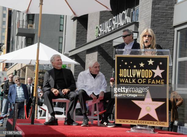 Susan Olsen speaks at the Sid And Marty Krofft Star Ceremony On The Hollywood Walk Of Fame on February 13 2020 in Hollywood California
