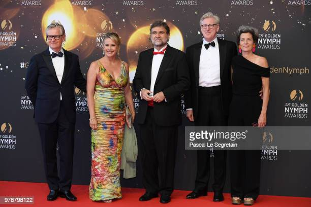 Susan OrmistonUlysse GossetTheo Koll and Franziska Koll attends the closing ceremony and Golden Nymph awards of the 58th Monte Carlo TV Festival on...