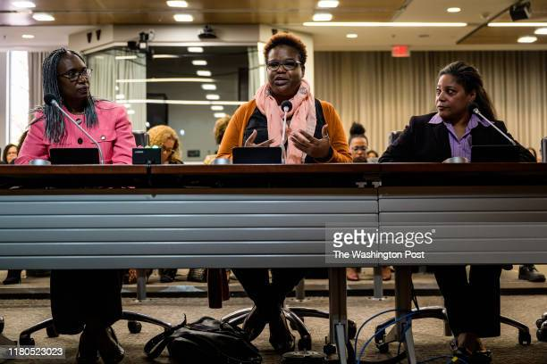 Susan PeterkinBishop center owner of Jaha hair salon speaks during the public hearing on CROWN Act at Montgomery County Council Office Building on...