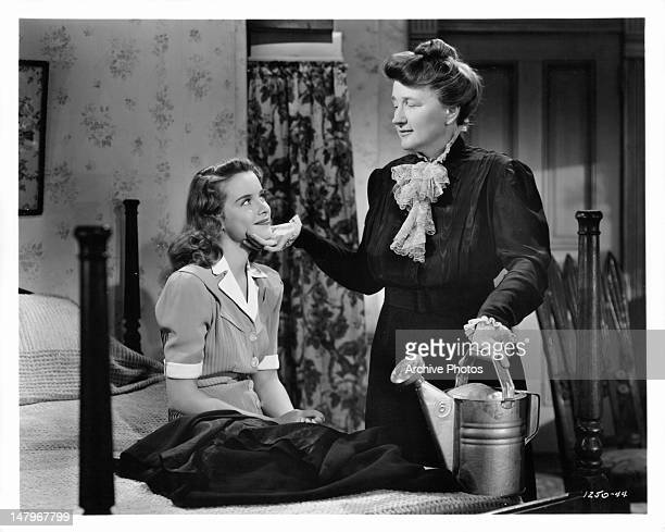 Susan Peters and Marjorie Main in touching moment together in a scene from the film 'Tish' 1942