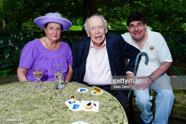 Susan Peterson Dr James Watson and Magnus Walsh attend A Country House Gathering To Benefit Preservation Long Island on June 28 2019 in Locust Valley...