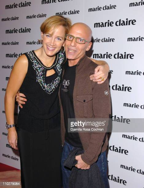 Susan Plagemann and Steve Marino during MARIE CLAIRE Celebrates Fashion Beauty October 24 2005 at Home in New York City New York United States