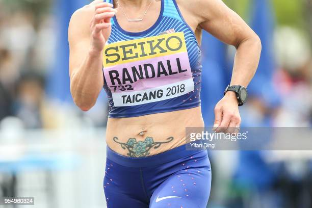 Susan Randall of the United States in action during Women's 50 kilometres Race Walk of IAAF World Race Walking Team Championships Taicang 2018 on May...