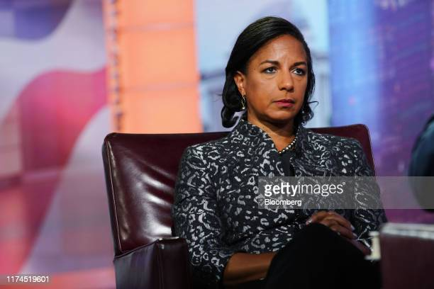Susan Rice, former U.S. National security advisor, listens during a Bloomberg Television interview in New York, U.S., on Tuesday, Oct. 8, 2019. Rice...