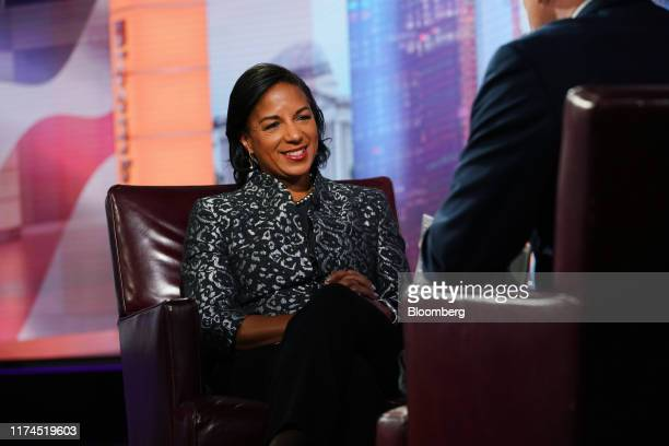Susan Rice, former U.S. National security advisor, smiles during a Bloomberg Television interview in New York, U.S., on Tuesday, Oct. 8, 2019. Rice...