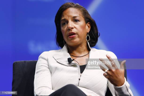 Susan Rice, former U.S. National security advisor, speaks during the Skybridge Alternatives conference in Las Vegas, Nevada, U.S., on Wednesday, May...