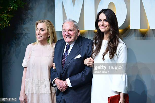 Susan Rockefeller David Rockefeller Ariana Rockefeller attend at the Museum of Modern Art on June 1 2016 in New York City