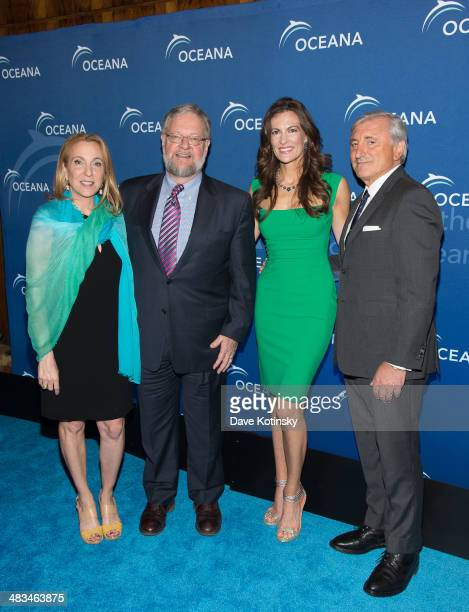 Susan Rockefeller David Rockefeller Jr Angela Kilcullen and Julian Niccolini attends Oceana's New York City Benefit at Four Seasons Restaurant on...