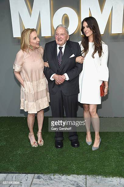 Susan Rockefeller David Rockefeller Sr and Ariana Rockefeller attend the 2016 Museum of Modern Art Party in the Garden at Museum of Modern Art on...