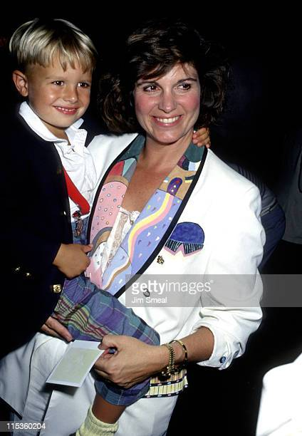 Susan Saint James and son Charles Duncan during Snow White Anniversary Premiere at Radio City Music Hall in New York City New York United States