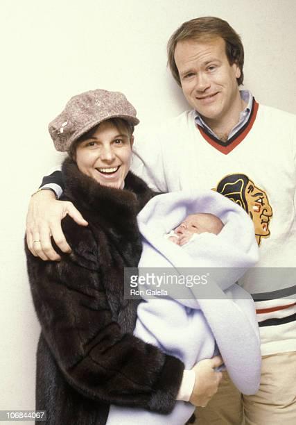 Susan Saint James Dick Ebersol and their newborn son Charles Duncan