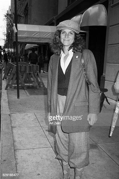 Susan Saint James on the street wearing knickers circa 1980 New York