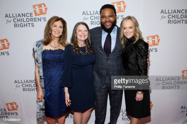 Susan Saltz Jennifer L Braun Anthony Anderson and Karey Burke attend The Alliance For Children's Rights 28th Annual Dinner at The Beverly Hilton...