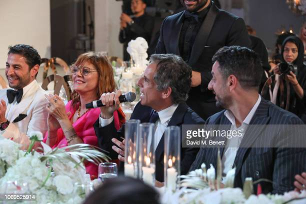 Susan Sarandon and Ben Stiller attend the Artists for Peace and Justice Bovet 1822 Gala on December 7 2018 in Dubai United Arab Emirates Photo by...
