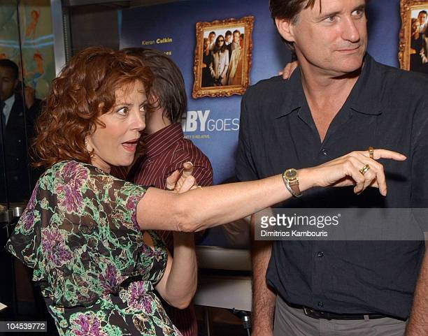 Susan Sarandon and Bill Pullman during 'Igby Goes Down' Premiere New York Arrivals at Chelsea West Theatre in New York New York United States