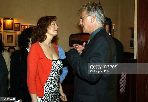 Susan Sarandon and Bob Dolman during The Banger Sisters Premiere - Party at The Grove Stadium 14 Theatres in Los Angeles, California, United States.