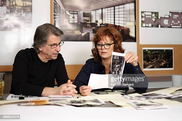 Susan Sarandon and David Rockwell cocurate artwork to be displayed in the Architectural Digest Greenroom at the 86th Academy Awards on February 4...