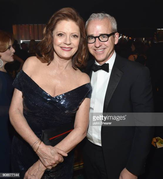 Susan Sarandon and Editorial Director of People and EW Jess Cagle attend People and EIF's Annual Screen Actors Guild Awards Gala sponsored by TNT and...