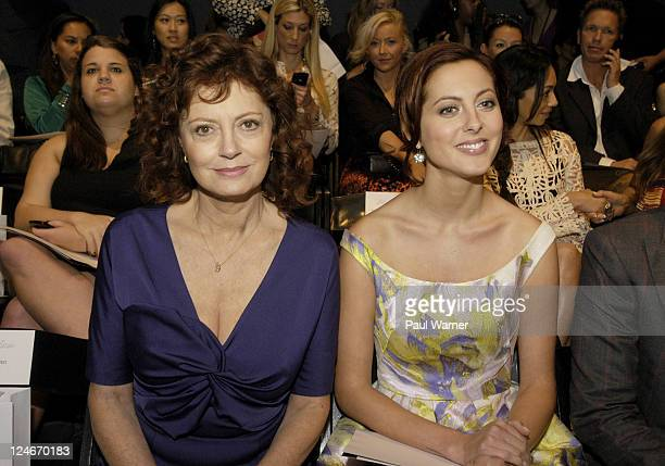 Susan Sarandon and Eva Amurri attend the Lela Rose Spring 2012 fashion show during MercedesBenz Fashion Week at The Studio at Lincoln Center on...