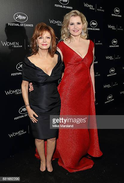 Susan Sarandon and Geena Davis attend the Women in Motion Prize Reception part of The 69th Annual Cannes Film Festival on May 15 2016 in Cannes France