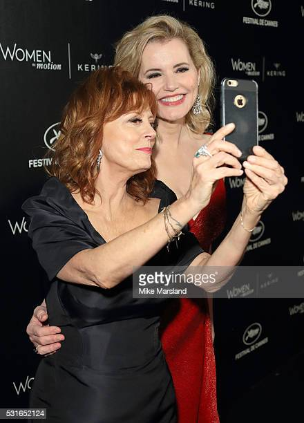 Susan Sarandon and Geena Davis recreat their Thelma and Louise selfie 25 years on at the Women in Motion Prize Reception part of The 69th Annual...