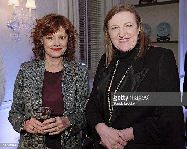 Susan Sarandon and Glenda Bailey attend the Stella McCartney Autumn 2014 presentation on January 13 2014 in New York City