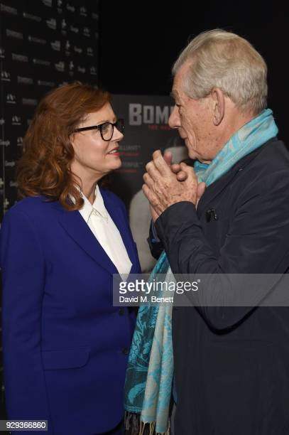 Susan Sarandon and Ian McKellen attend a special screening of 'Bombshell The Hedy Lamarr Story' at BFI Southbank on March 8 2018 in London United...