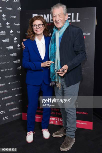 Susan Sarandon and Ian McKellen attend a special screening of Bombshell The Hedy Lamarr Story at BFI Southbank on March 8 2018 in London United...
