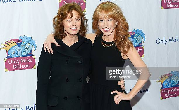Susan Sarandon and Kathy Girffin attend the 14th annual Make Believe On Broadway gala>> at The Bernard B Jacobs Theatre on November 4 2013 in New...