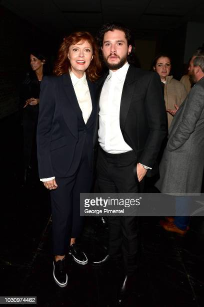 Susan Sarandon and Kit Harington attend the The Death And Life Of John F Donovan premiere during 2018 Toronto International Film Festival at Winter...