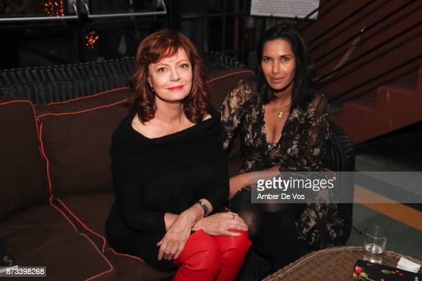 """Susan Sarandon and Padma Lakshmi attend """"The Soufra Cookbook"""" Launch Party co-hosted by Rebelhouse Group and Susan Sarandon on November 12, 2017 in..."""