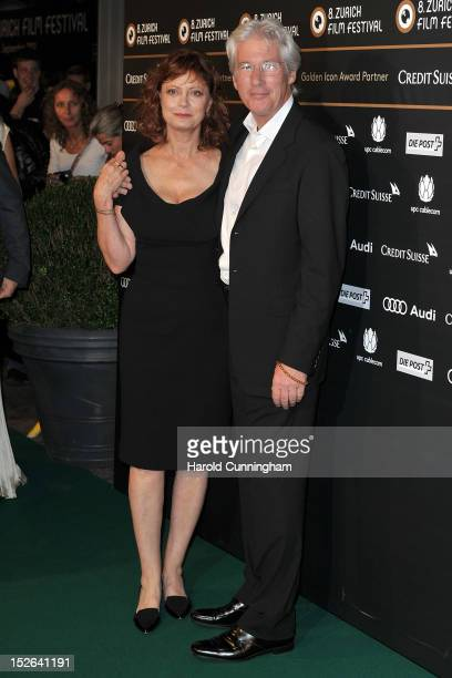 Susan Sarandon and Richard Gere pose during the 'Arbitrage' premiere as part of the Zurich Film Festival 2012 on September 23 2012 in Zurich...